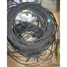 Оптический кабель Б/У для внешней прокладки (с металлическим тросом) в Апрелевке, оптокабель БУ (Апрелевка)