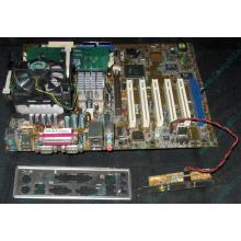 Материнская плата Asus P4PE (FireWire) с процессором Intel Pentium-4 2.4GHz s.478 и памятью 768Mb DDR1 Б/У (Апрелевка)